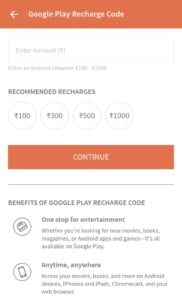 Buy Google Play Gift Cards from Paytm and Freecharge 7