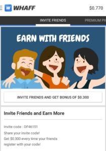 (Loot)(Proof) Whaff App Loot : Rs.30 or $0.400 on Sign Up & Rs.20 or $0.300 Per Refer |Redeem as Flipkart,Freecharge,Paypal 3