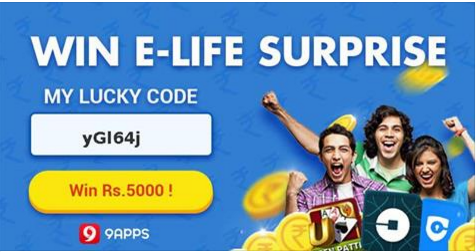 9Apps Loot : Signup And Get Rs.2500 Refer And earn Rs. 5000 Cash + Rs 2500 On Signup Use Code : ygl64j 1