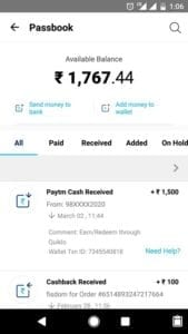 Quicklo App : Refer friends and get Free Rs. 50 Paytm Cash for Each 4
