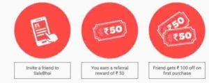 {Proof Added} SaleBhai Loot Offer : Get Rs.100 on Sign Up and Rs.50 Per Refer 5
