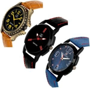 Steal Deal : Gesture Attractive Arrogant Combo of 3 Stylish Creative Analog Watch At Rs. 599 ( MRP = 2100 Rs.) 1