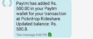 [Proof Added] Refer 5 Friends and Earn Rs. 100 Paytm Cash Through PicknHop App 2