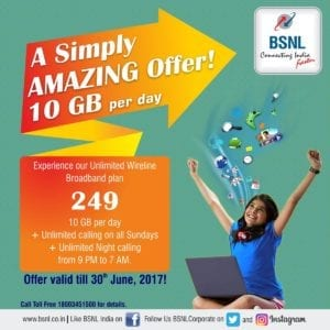 BSNL 249 Plan - Get 10 GB Data +Unlimited Free Calls Per Day 1