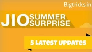 5 Latest Updates you need to know about Jio Summer Surprise 1