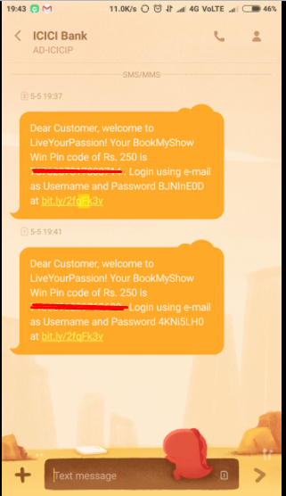 Screenshot 5 - (Over)(proof) Loot : Get Rs.250 Bookmyshow Voucher Instantly For Signing up LiveYourpassion