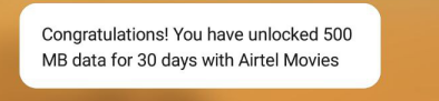 Get 500 MB 4G Data For 30 Days From MyAirtel App 2