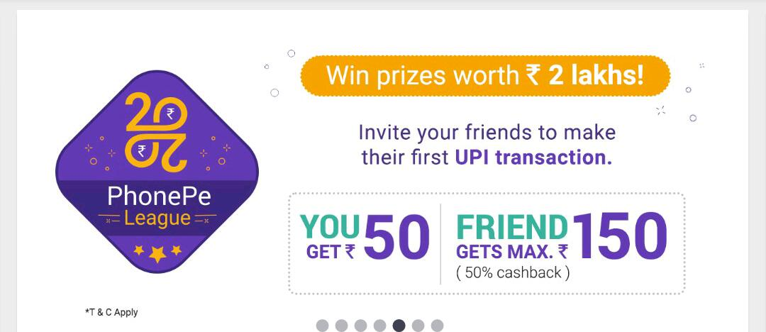 Phonepe Loot : Trick to Get Rs.100 On Signup + Rs.50 For Each Invite 1