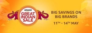 [Suggestion added] Amazon Great Indian Sale: Best Offers & Loot Deals (11-14 May) 1