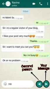 fake whatsapp conversation