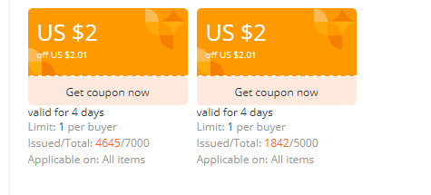 AliExpress: Get $2 Off On Coupon For Free 1