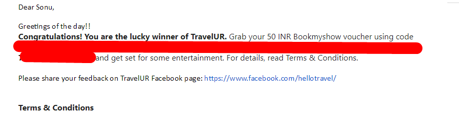 Screenshot 118 - (Proof Added)Travelur.com: Refer 3 Friends And Get Rs.100 Paytm Cash For Free+Trip to Thiland