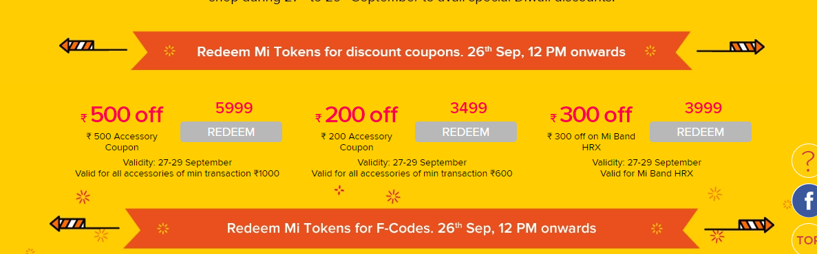 Mi Diwali Rs.1 Sale : Buy Redmi 4A,Redmi 4 For Rs.1 only 3