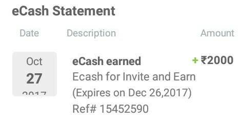 Redeem Your Yatra eCash Now For amazon and other Gift vouchers(Repost from OCT. 27) 2