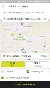 Free Ride Worth Rs.250 From Ola cabs For All Users 1
