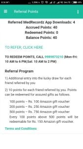 (over)MedRecordz App Loot : Refer Friends And Get Amazon voucher/Paytm cash( 10 Point Per Refer) 2