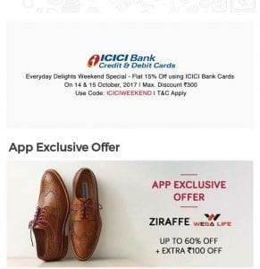 Tata Cliq Loot : Get  Ziraffe Shoes at 60% Off +Rs.100 Off + 15% Off From ICICI Bank 1