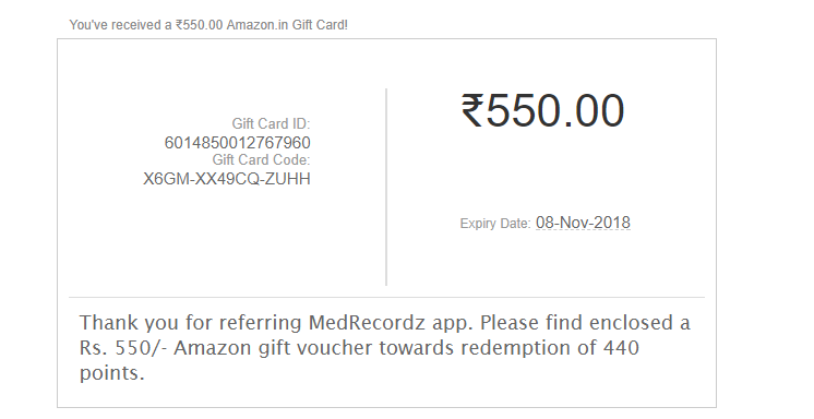 (over)MedRecordz App Loot : Refer Friends And Get Amazon voucher/Paytm cash( 10 Point Per Refer) 3