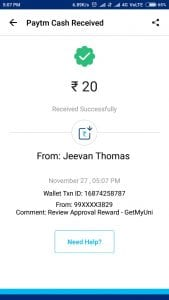 WhatsApp Image 2017 11 27 at 5.08.09 PM 169x300 - (Proof Added)Getmyuni : Review Your College and Get Rs.20 Paytm Cash+Refer And Earn Rs.1000