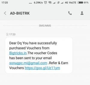 [instant Redeem+Proof]Bigtricks New Year Offer:Signup and get 50 Points + Refer & Earn 25 Points for Each[Giftcards] 7