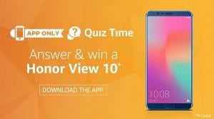 5118 quez amazon 300x167 - [Answers Added] Amazon Honor Quiz:-Answer and get a Chance to Win Honor View 10