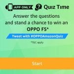 Amazon Oppo F5 Quiz Answers