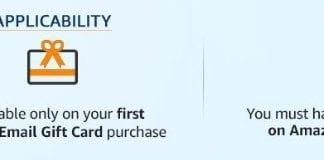 Amazon – Get 10% Cashback On Amazon Email Gift Cards