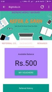 (Live Again)Bigtricks App : Install And Get Rs.10 & Rs.5 Per Referral Paytm Cash Instantly 3