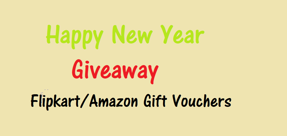 [Live at 8.00 PM]Giveaway-Flipkart/Amazon Vouchers Worth Rs.100 at Rs.50 Only 1