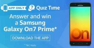 (All Answers) Amazon Samsung Galaxy On7 Prime Quiz | Win On7 Prime 1