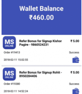 Screenshot 2 263x300 - [Proof-Instant Recharge] MS Online App : Get Rs.10 on Signup & Rs.5 for each referral