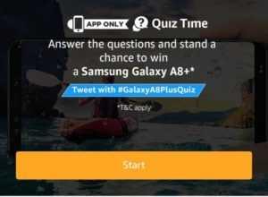 Amazon Samsung Galaxy Quiz – Answers & win Samsung Galaxy A8+ 1