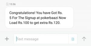 WhatsApp Image 2018 02 08 at 15.57.02 300x153 - (Expiring Soon)Bigtricks App Loot: Signup on Pokerbaazi and Get Rs.5 Paytm+Load money And Get Rs.200+125 Paytm cash free