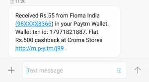 WhatsApp Image 2018 02 26 at 11.22.39 300x165 - [Over]Floma Loot: Get Rs.5 Paytm Cash On Signup & Rs.10 Paytm cash for Each Referral