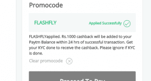 Screenshot 111 300x161 - Paytm Loot: Get Rs 100% Cashback upto Rs 1000 on Flight Tickets[FLASHFLY]