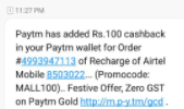 Proof: [All Users]Paytmmall Loot : Get Rs.100 Recharge For Free on Airtel 3