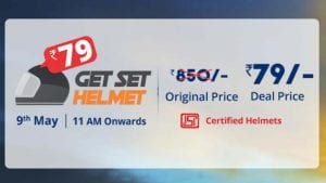 droom 9 may 300x169 - [Sale Live at 11.00 AM] Droom Helmet Sale : Get Droom Helmet Worth Rs.799 for Rs.99