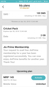 Jio Cricket Surprise : Jio is Crediting 8 GB Extra Data till 29th MAY 2