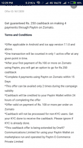 (User Specific)Paytm Zomato Trick : Get Food Worth Rs.800 for Only at Rs.150 (After cashback) 2