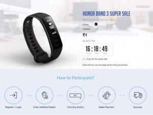 (Sale Starts at 3PM)Honor Band 3 Rs.1 Flash Sale - Get Honor Band 3 At Just Rs.1 Worth Rs.2799 1