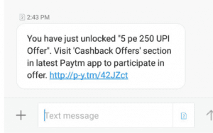 Screenshot 155 300x188 - (OVER)Paytm Loot - Get Rs.750 Cashback on UPI Money Transfer Instantly