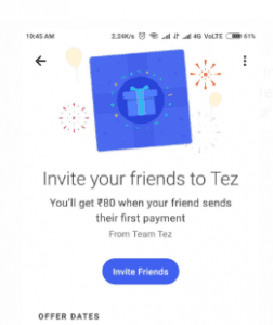 Screenshot 232 252x300 - (New)Google Tez Loot : Get Rs.51 On Signup + upto Rs.100 For Each Invite (Bank Cash)