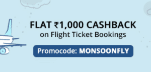 PayTM : Flat Rs.1000 Cashback on Fligh Booking of Rs.5000  (for all users) 1