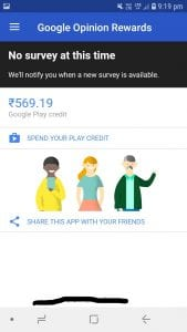 Google Opinion Rewards: Earn Play Credits By Answering Surveys. 3