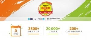Amazon Freedom Sale - upto 90% off on Products + 10% Discount on SBI Cards 1