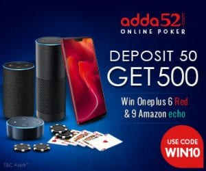 Play Poker & Win 10k per hour - Deposit Rs.50 & get a Chance to Win a One Plus 6 1