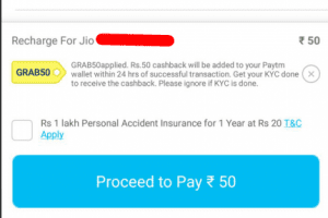 (Live Again)PayTM Loot - Free Rs.50 Recharge For All Users 1