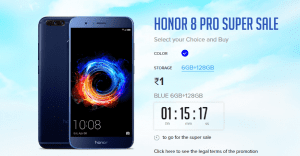 (Over) Honor Rs 1 Sale: Get Honor 8 Pro Smartphone worth Rs 29,999 at Rs 1 1