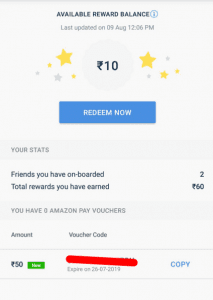 (Working + Proof Added)SMS Organizer App - Refer & get Rs.10 Amazon Voucher 2