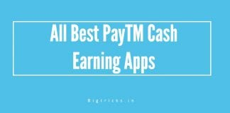 Top 8  Working Apps to Earn PayTM Cash August 2018